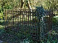 St Mary's Church, Great Canfield, Essex ~ churchyard grave fence.jpg