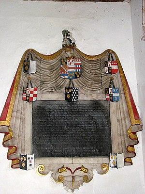 Brampton Gurdon of Letton - St Mary's church, Cranworth – wall monument Memorial to Brampton Gurdon
