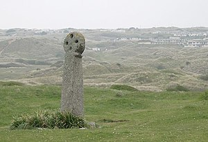 Saint Piran - St Piran's Cross in the dunes at Perranzabuloe