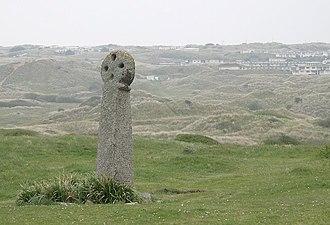 Saint Piran - St Piran's Cross in the dunes at Perranzabuloe