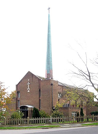 Oakwood, London - Image: St Thomas, Prince George Avenue, London N14 geograph.org.uk 1722215