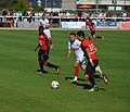 Stade rennais vs USM Alger, July 16th 2016 - Gourcuff Koudri Ntep 1.jpg