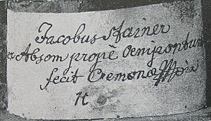 Jacob Stainer - Image: Stainer Zettel