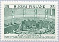 Stamp of Finland - 1955 - Colnect 46203 - 44th Conference Interparliamantarian Union.jpeg