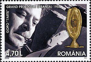Ion Popescu-Gopo - Image: Stamps of Romania, 2008 49