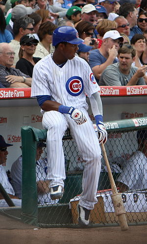 English: Starlin Castro of the Chicago Cubs wa...