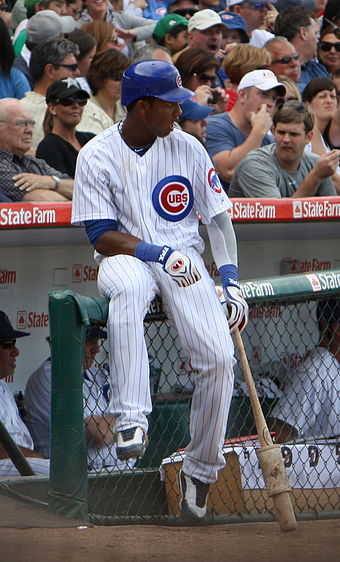 Starlin Castro during his 2010 rookie season. Starlin Castro 09-05-2010.jpg