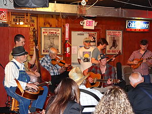 Station Inn - A group performing at the Station Inn in 2012