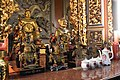 Statues of in Puhua Tianzun (Lord of Thunder) in Pili Temple.jpg