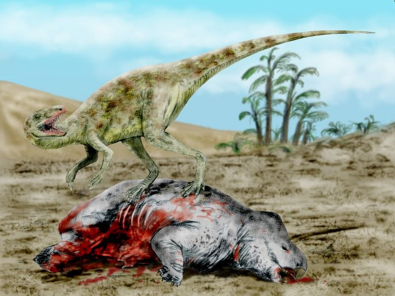 Staurikosaurus BW