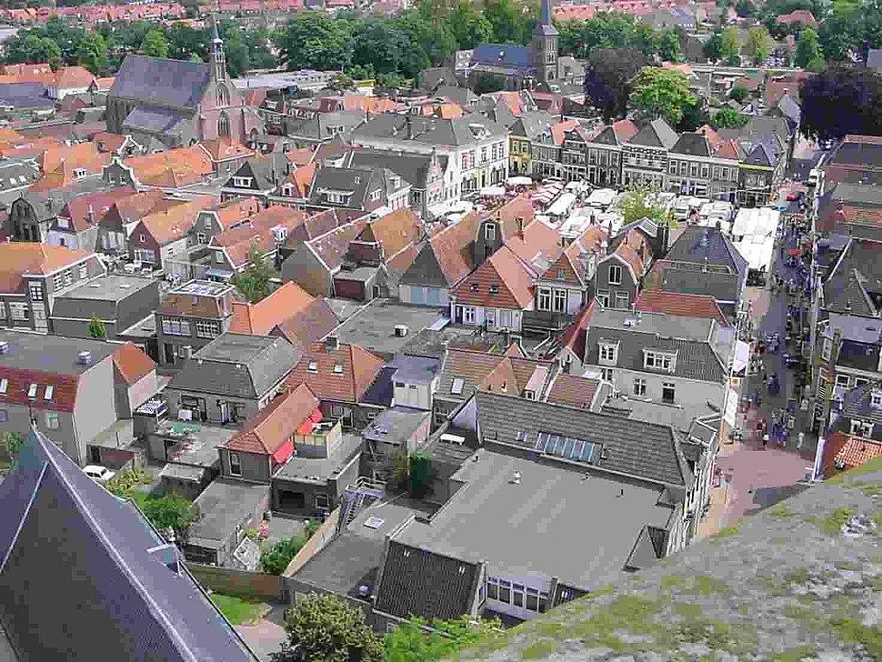 Steenwijk centrum van boven