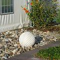 Steinerner Golfball in Dackenheim - panoramio.jpg