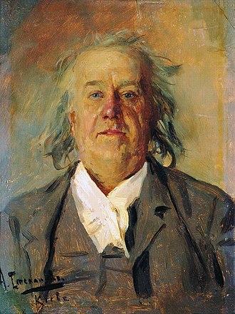 Alexei Stepanov - Portrait of his father-in-law, Nikolai Medyntsev (1902)
