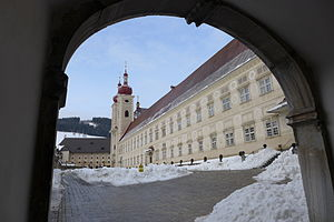 St. Lambrecht's Abbey - St. Lambrecht's Abbey in winter