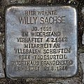 Stolperstein Corker Str 29 (Weddi) Willy Sachse.jpg