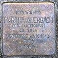 Stolperstein Hektorstr 18 (Halsee) Martha Auerbach 02.jpg