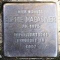 Stolperstein Meraner Str 11 (Schöb) Sophie Magasiner.jpg