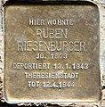 Stolperstein Stierstr 21 (Fried) Ruben Riesenburger.jpg