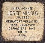 Stolpersteine Kornstr 5 Josef Mindus