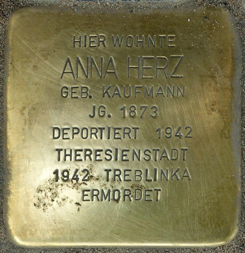 Stolperstein für Anna Herz (Bahnhofstraße 48)