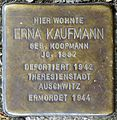Stolpersteine Krefeld, Erna Kaufmann (Nordwall 75).jpg