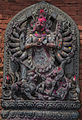 Stone carving of Goddess Durga- Bhaktapur.jpg
