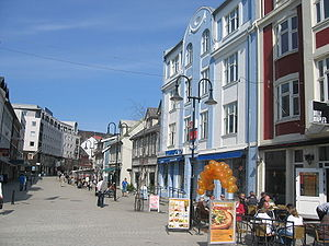 Harstad (town) - View of one of the main roads of Harstad