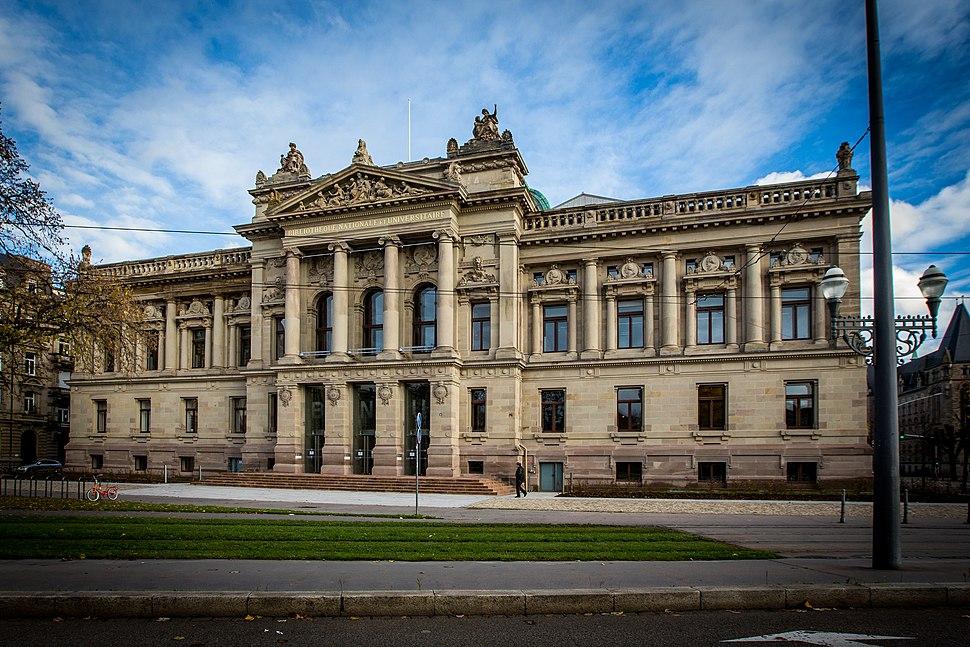 Strasbourg Bibliothèque nationale et universitaire novembre 2014