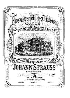 Freuet Euch des Lebens - Cover of the piano score. (Published by C.A.Spina)