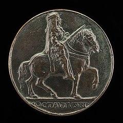 Ottaviano Riding with Drawn Sword [reverse]