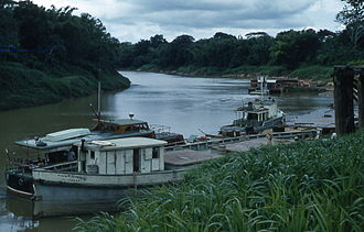 Prinzapolka - Town of Alamikamba at the shores of the Prinzapolka River