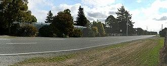 Swannanoa, New Zealand - The Swannanoa school pool and school gate