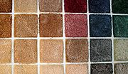 Swatches of carpet 1