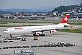 Swiss Airbus A340; HB-JMC@ZRH;31.07.2009 548aq (4327673564).jpg