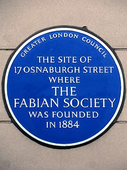 The site of 17 osnaburgh street where the fabian society was founded in 1884