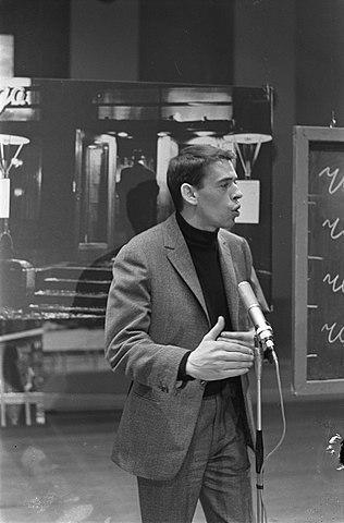 Foto van Jacques Brel in Amsterdam (Wikipedia)