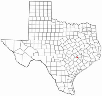 Round Top, Texas - Image: TX Map doton Round Top