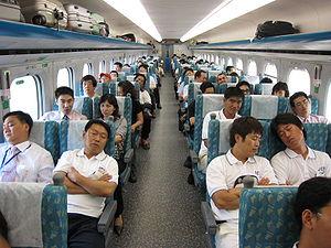 Taiwan High Speed Rail - Standard Car riders on a northbound train