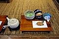 Taiyaki mini and tea by m-louis in Ueno, Tokyo.jpg