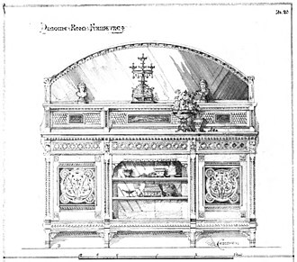 Modern Gothic cabinet - Image: Talbert Gothic Forms 1873 plate 20