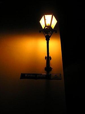 Tallinn (Estonia) - lamp Kiriku Plats