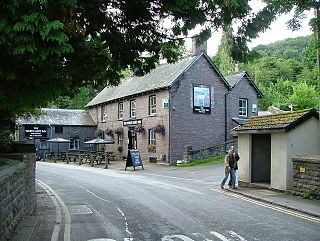 Talybont-on-Usk village in the county of Powys, Wales