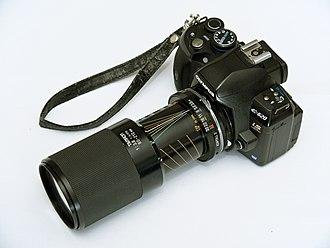 Tamron - Tamron Adaptall-2 80–210 mm on an Olympus body