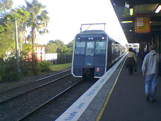 Cronulla railway station - T set at Cronulla in 2005