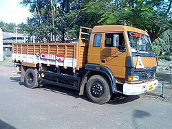 Tata 1613 low body open load area truck