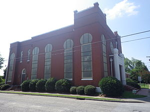 Temple Sinai (Sumter, South Carolina) - Image: Temple Sinai from Church St and Hampton St