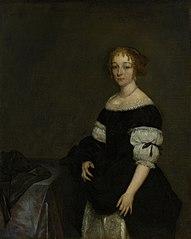 Portrait of Aletta Pancras (1649-1707). Wife of François de Vicq