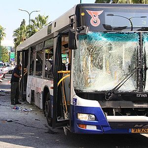 Operation Pillar of Defense - Aftermath of the Tel aviv bus bombing incident on the 21st of November.
