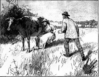 "Tess of the d'Urbervilles - ""He jumped up from his seat... and went quickly toward the desire of his eyes."" 1891 illustration by Joseph Syddall"
