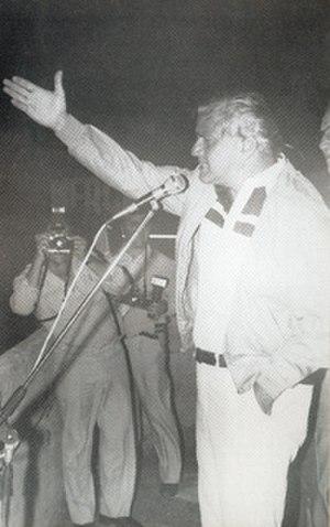 Antonio Cafiero - Cafiero announces the establishment of the Peronist Renewal movement on 9 September 1982.